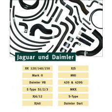 Kevlar reinforced radiator hoses for Jaguar and Daimler