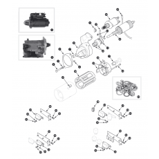 Starter motor - 4.2 Series I from May 1972 and all 4.2 / 3.4 Series II and III models