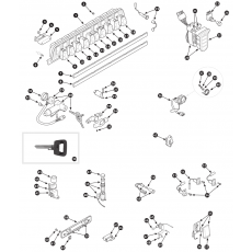 Switches and steering lock – Series I