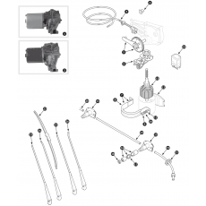 Windscreen wiper and motor - Series I ans II