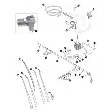 Windscreen wiper and motor - Series III