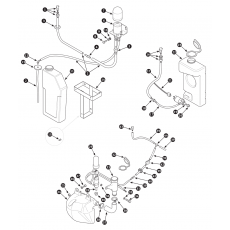 Windscreen washer system without headlamp wipe/wash - Series III