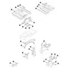 Inner body repair panels, rear section - Series I