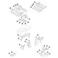 Inner body repair panels, rear section - Series II Saloon