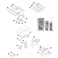 Inner body repair panels, rear section - Series III
