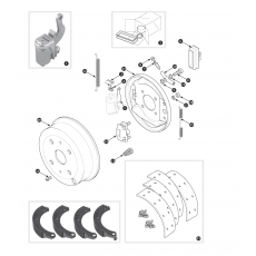 Rear brakes - TR2, TR3 to TS13045