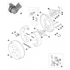 Rear brakes - TR3 from TS13046, TR3A  to TS56376