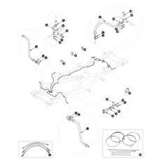 Brake pipes - TR3 from TS13046, TR3A, TR3B and TR4