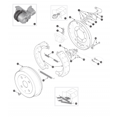 Rear brakes - TR3A from TS56377, TR3B, TR4 and TR4A