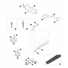 Door hinges and door seals - TR2, TR3, TR3A and TR3B