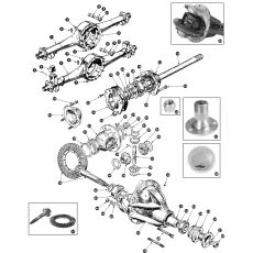 Rear axle and differential - BN1 from 221536, BN2, BN4, BN6, BN7, BT7, BJ7 and BJ8