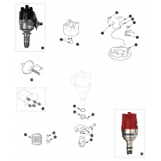 Distributor, Lucas 45D4 - 1500 models for Europe