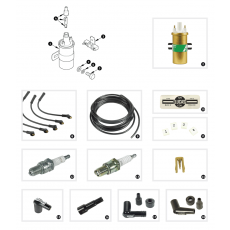 Ignition coil, ignition leads and spark plugs