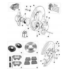Front disc brakes - BN7, BT7 and BJ7, BJ8 to 26704