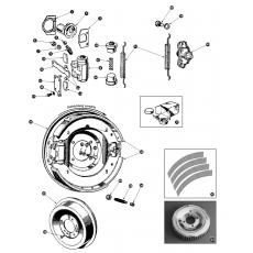 Rear brakes - BN1 to 221535