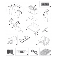 Battery and fittings