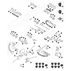 Switches and steering lock - TR6 from September 1972