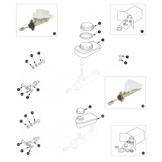 Brake hydraulics - dual line system