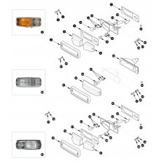 Front and side lamps - European models