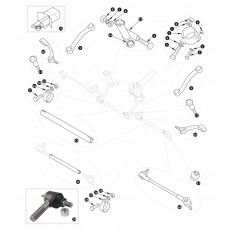 Steering rods and steering idler - XK120