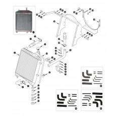 Radiator and radiator hoses - XK150