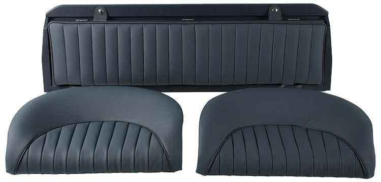 Leather rear seats