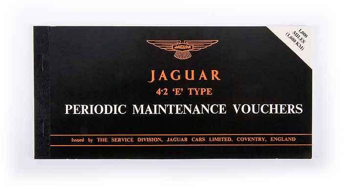 Jaguar Service book