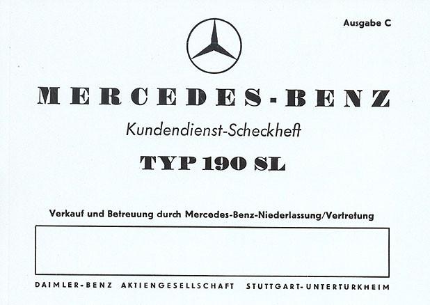 Wartungsheft 190 SL (W 121)