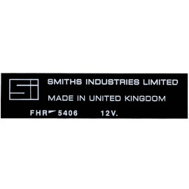 Sticker for heater, Smiths Industries
