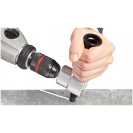 Drill nibbler attachment