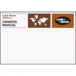 Land Rover Series III Owners Handbook