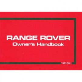 Range Rover Owners Handbook