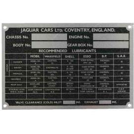 Jaguar Chassis plate